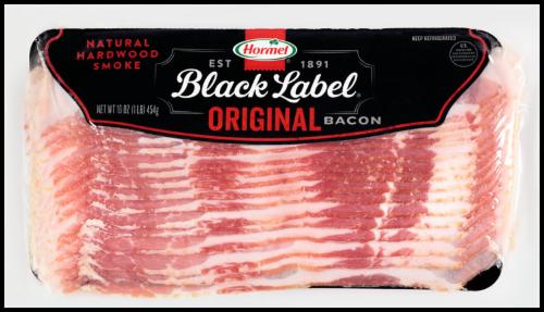 Fresh Bacon, Hormel® Black Label® Original Bacon (16 oz Bag)