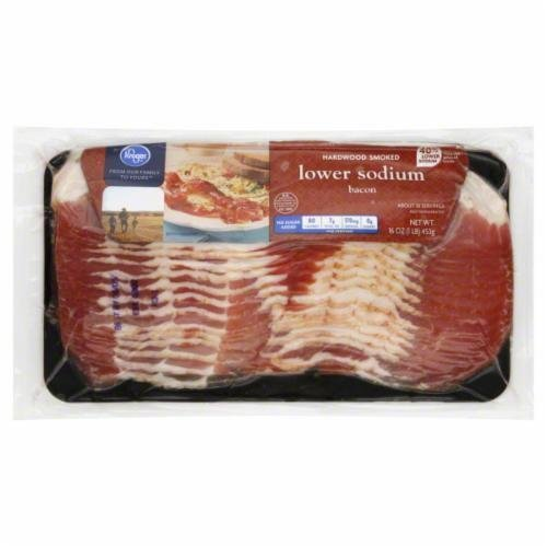Fresh Bacon, Kroger® Hardwood Smoked Lower Sodium Bacon (16 oz Bag)