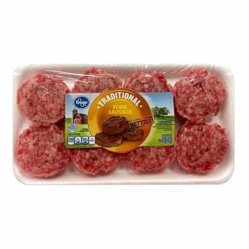 Fresh Sausage Patties, Kroger® Traditional Pork Sausage Patties (12 oz Tray, 8 Count)