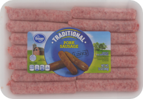 Fresh Sausage Links, Kroger® Traditional Pork Sausage Links (12 oz Tray, 14 Count)