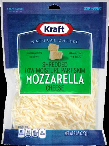 Shredded Cheese, Kraft® Part-Skim Shredded Mozzarella Cheese (8 oz Resealable Bag)