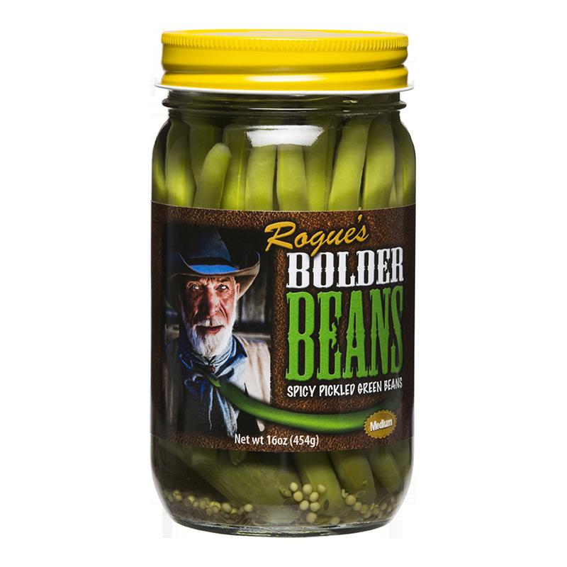 Preserved Green Beans, Rogue's® Bolder Medium Pickled Green Beans (16 oz Jar)