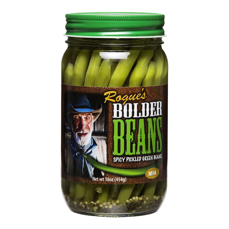 Preserved Green Beans, Rogue's® Bolder Mild Pickled Green Beans (16 oz Jar)