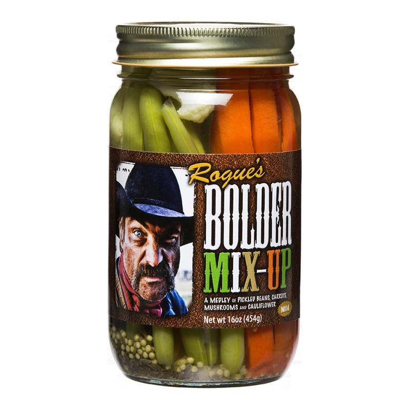 Preserved Vegetables, Rogue's® Bolder Pickled Mix-Up Vegetable Medley (16 oz Jar)