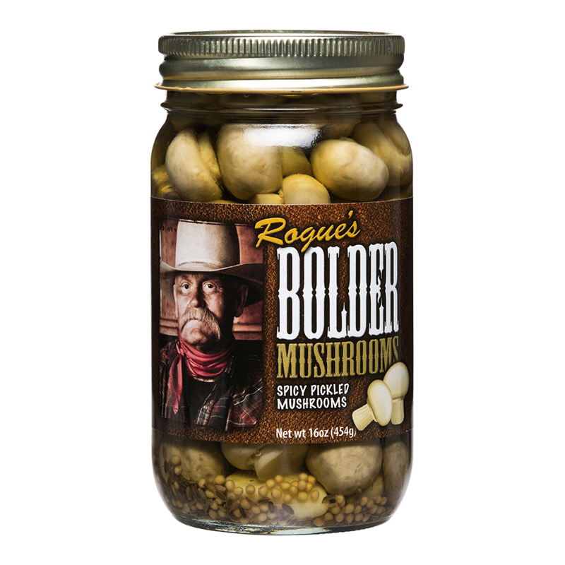 Preserved Mushrooms, Rogue's® Bolder Mild Pickled Mushrooms (16 oz Jar)