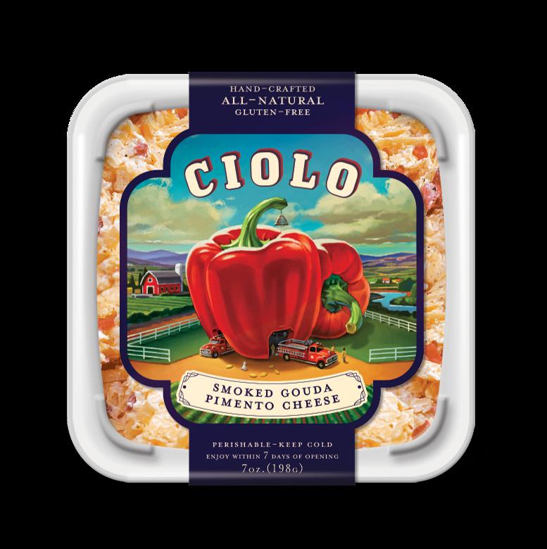 Cheese Spread, Ciolo® Smoked Gouda Pimento Cheese Spread (7 oz Tub)