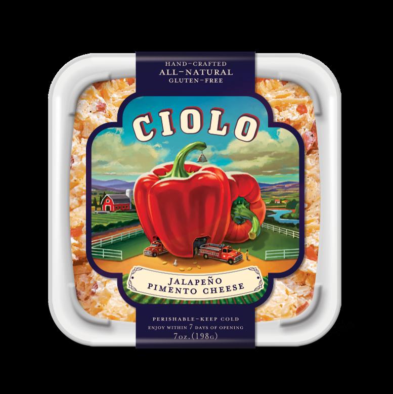 Cheese Spread, Ciolo® Jalapeño Pimento Cheese Spread (7 oz Tub)