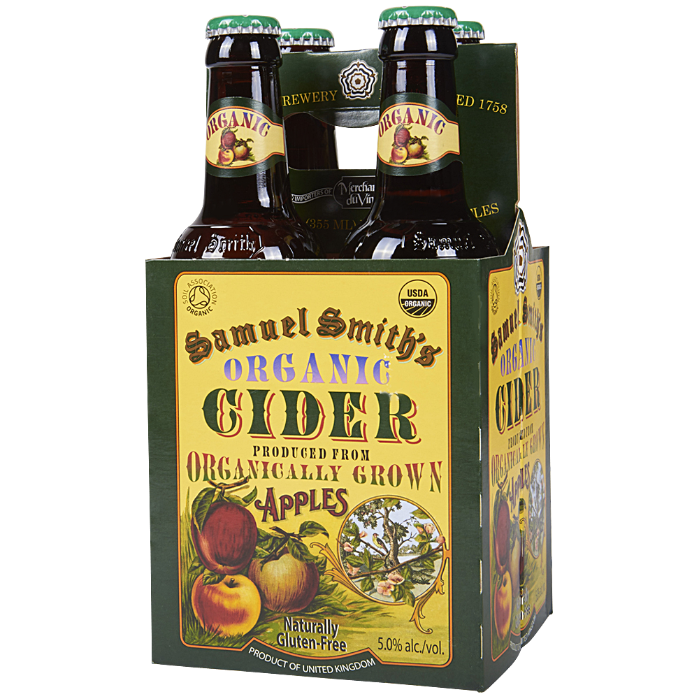 Cider, Import Cider, Samuel Smith® Organic Apple Cider ( 4 Pack, 12 oz Bottles)