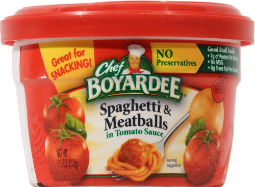 Meatballs, Chef Boyardee® Spaghetti & Meat Balls (7.5 oz Cup)