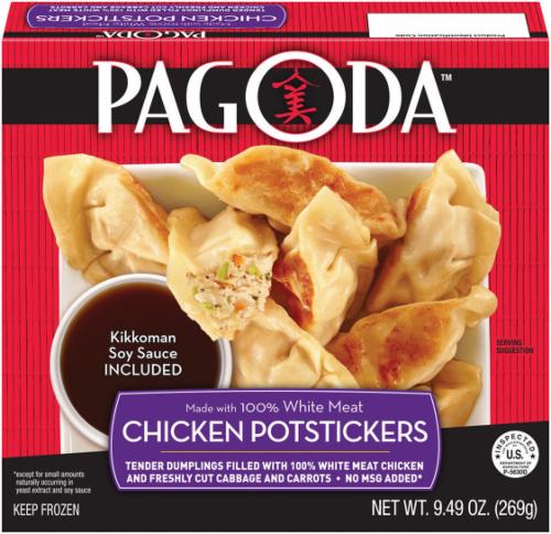Frozen Potstickers, Pagoda Express® Chicken Potstickers (9.49 oz Box)
