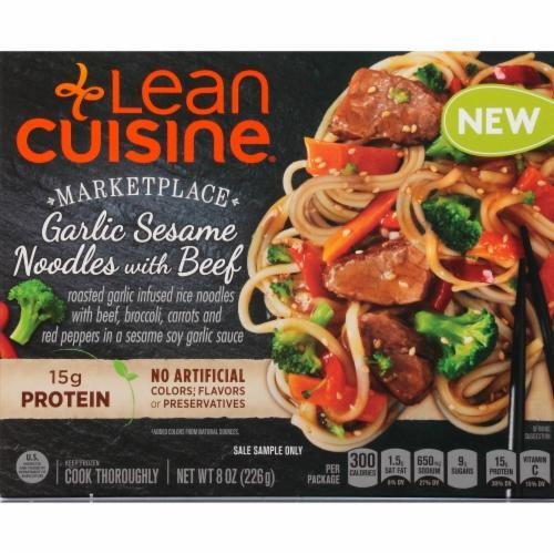 Frozen Dinner, Lean Cuisine® Marketplace™ Garlic Sesame Noodles with Beef (8 oz Box)