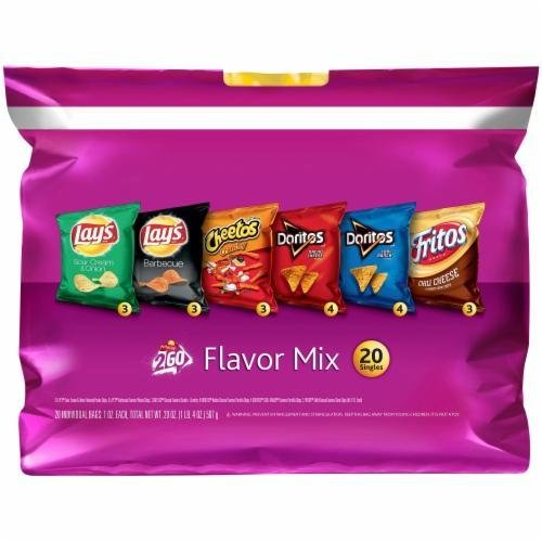 """Lunch Size Chips, Frito-Lay® """"2Go Flavor Mix"""" (20 Bag Count, 20 oz Bag)"""