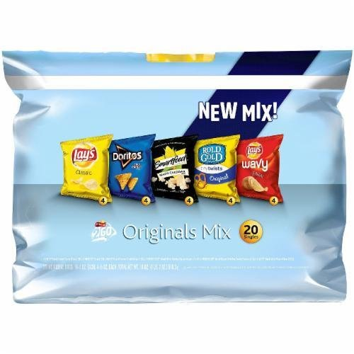"""Lunch Size Chips, Frito-Lay® """"2Go Originals Mix"""" (20 Bag Count, 20 oz Bag)"""