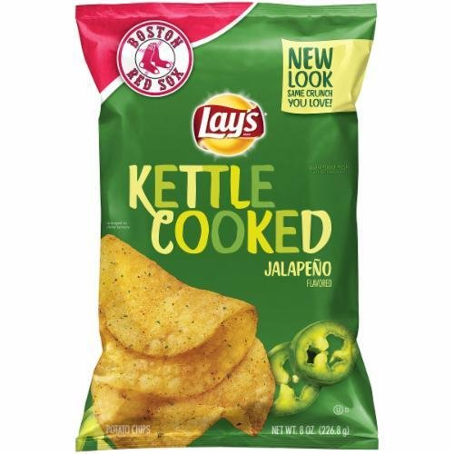 Potato Chips, Lay's® Kettle Cooked® Jalapeño Potato Chips (8 oz Bag)