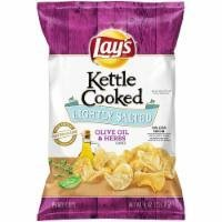 Potato Chips, Lay's® Kettle Cooked® Lightly Salted Olive Oil & Herb Potato Chips (8 oz Bag)