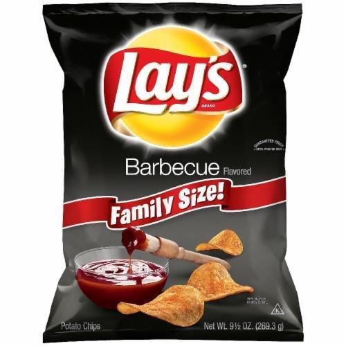 "Potato Chips, Lay's® ""Family Size"" Barbecue Potato Chips (9.5 oz Bag)"