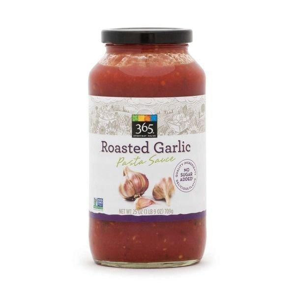 Pasta Sauce, 365® Roasted Garlic Pasta Sauce (25 oz Jar)