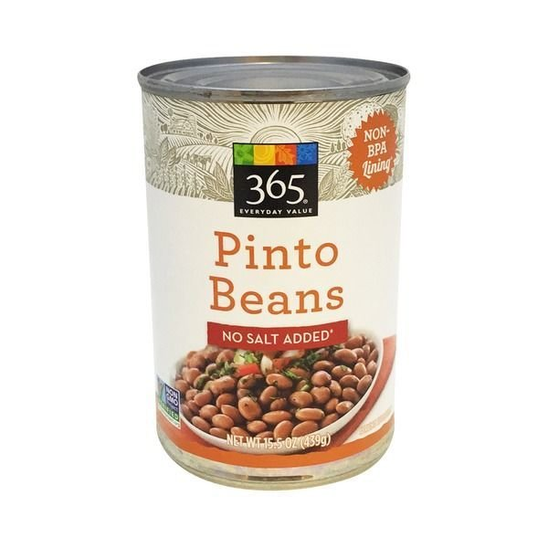 """Canned Pinto Beans, 365® Organic """"No Salt Added"""" Pinto Beans (15.5 oz Can)"""