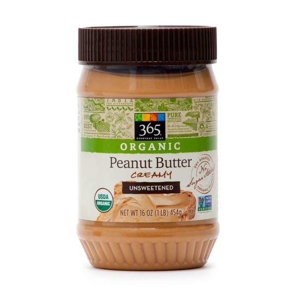 Organic Peanut Butter, 365® Organic Unsweetened Creamy Peanut Butter (16 oz Jar)