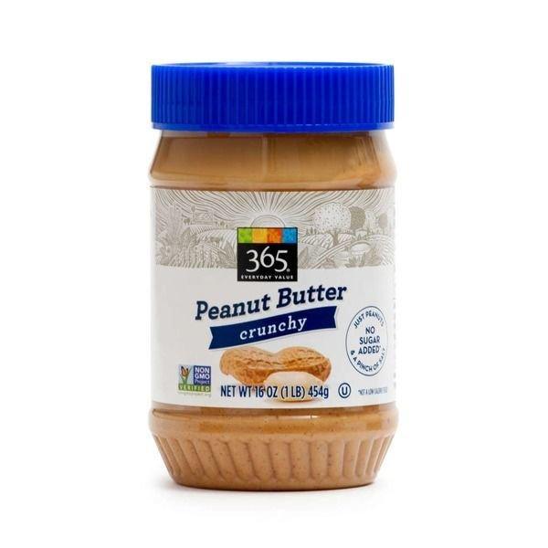 Peanut Butter, 365® Crunchy Peanut Butter (16 oz Jar)