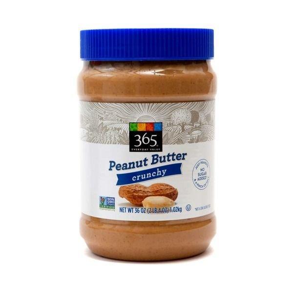 Peanut Butter, 365® Crunchy Peanut Butter (36 oz Jar)