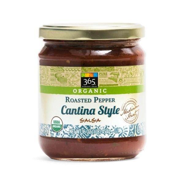 Salsa, 365® Organic Medium Cantina Style Roasted Pepper Salsa (16 oz Jar)