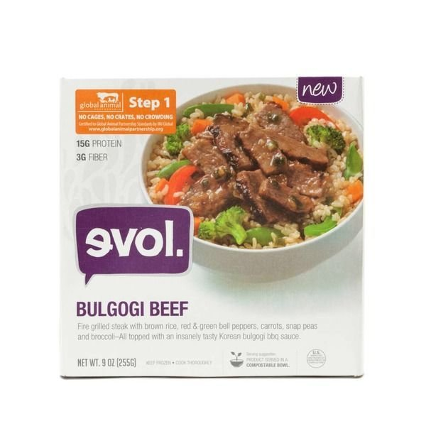 Frozen Meat, Evol® Korean BBQ Beef Bowl (9 oz Box)