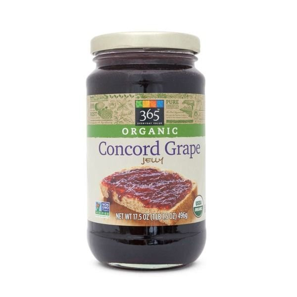 Fruit Spread, 365® Organic Concord Grape Jelly (17.5 oz Jar)