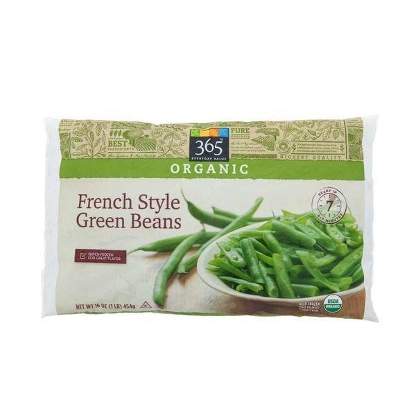 "Frozen Green Beans, 365® Organic ""Frozen"" French Style Green Beans (16  oz Bag)"
