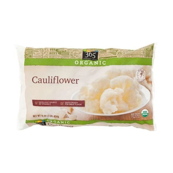 Frozen Cauliflower, 365® Organic Cauliflower (16 oz Bag)