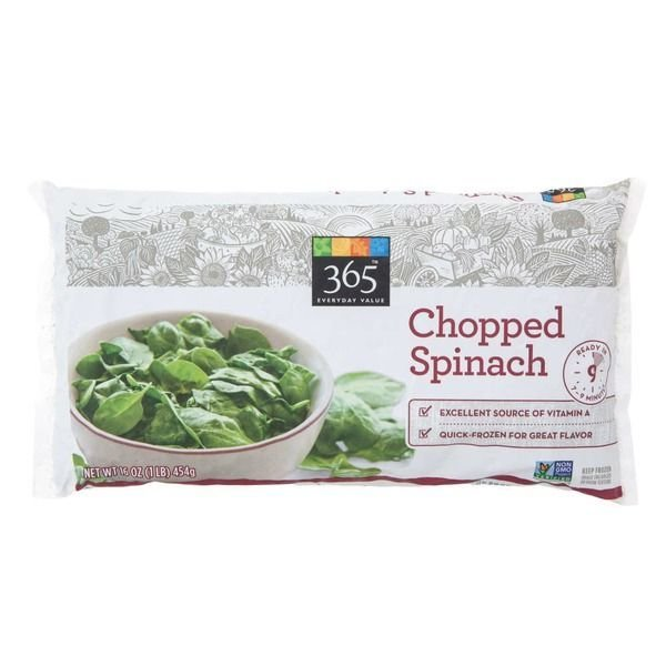 Frozen Spinach, 365® Chopped Spinach (16 oz Bag)