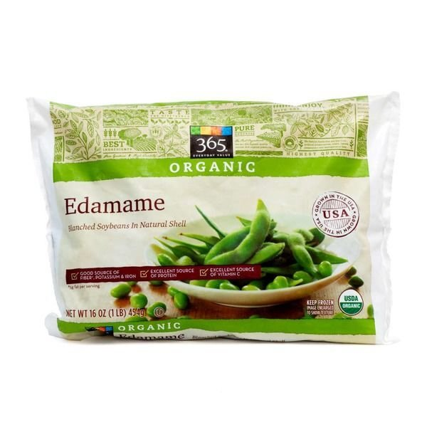 Frozen Edamame, 365® Organic Edamame Blanched Soybeans in Natural Shell (16 oz Bag)