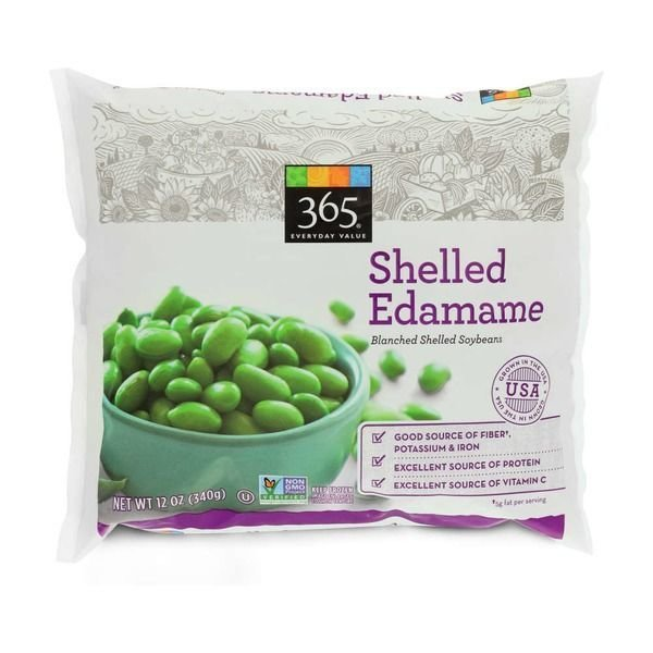 Frozen Edamame, 365® Edamame Blanched Soybeans in Natural Shell (16 oz Bag)