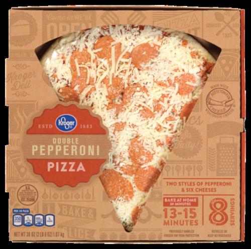 Fresh Pizza, Kroger® Fresh Double Pepperoni Pizza (35 oz Box)