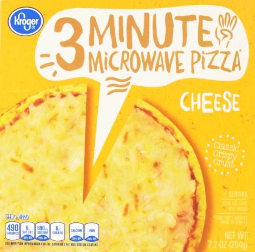 Frozen Pizza, Kroger® 3 Minute Microwave™ Cheese Pizza (7.2 oz Box)