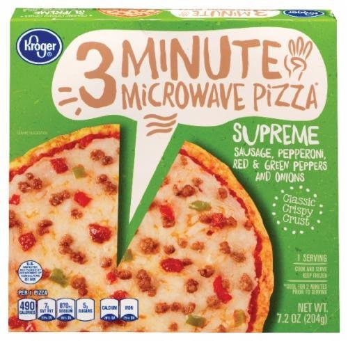 Frozen Pizza, Kroger® 3 Minute Microwave™ Supreme Pizza (7.2 oz Box)