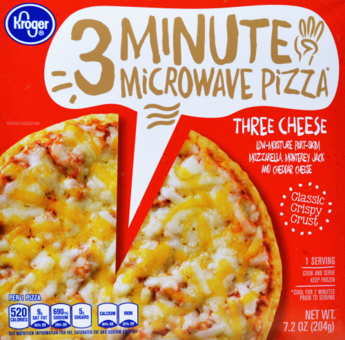 Frozen Pizza, Kroger® 3 Minute Microwave™ Three Cheese Pizza (7.2 oz Box)