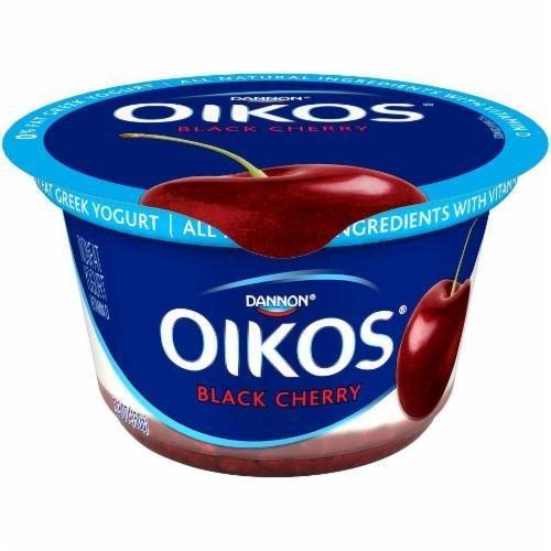 Yogurt, Dannon® Oikos® Non Fat Greek Black Cherry Yogurt (5.3 oz Cup)