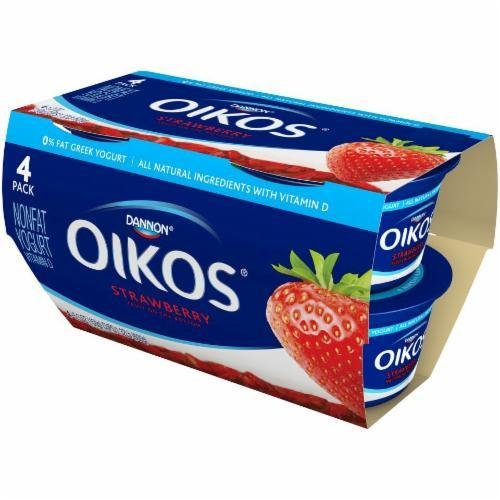 Yogurt, Dannon® Oikos® Non Fat Greek Strawberry Yogurt (4 Pack, 5.3 oz Cup)