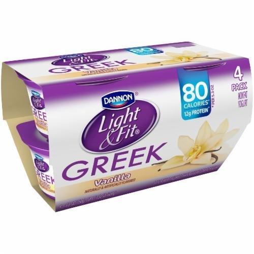 Yogurt, Dannon® Light & Fit® Greek Nonfat Vanilla Yogurt (4 Pack, 5.3 oz Cup)