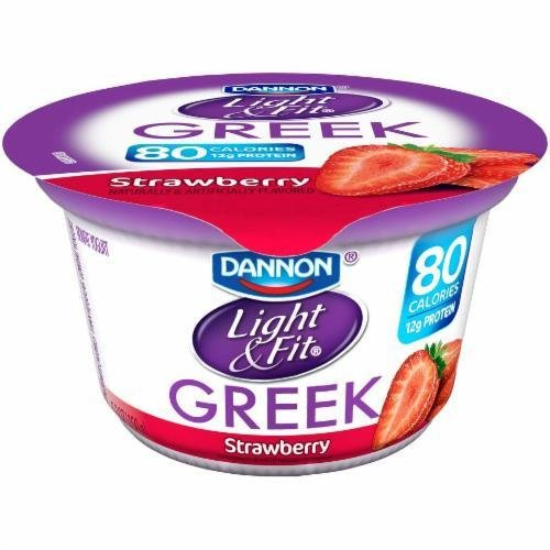 Yogurt, Dannon® Light & Fit® Greek Nonfat Strawberry Yogurt (5.3 oz Cup)