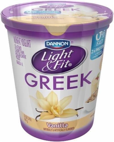Yogurt, Dannon® Light & Fit® Greek Nonfat Vanilla Yogurt (32 oz Cup)
