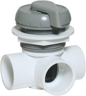 Waterway Valves Notched 1″ Horizontal – 2-Port Deluxe 180° Shut Off Valves