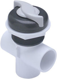 """Waterway Valves """"S"""" Style 1″ Vertical – Dual Port Two Tone On / Off Turn Valves"""