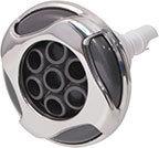 Waterway Jet Internal Reverse Swirl 3-5/8″ Diameter Stainless Steel Poly Pulse Massage