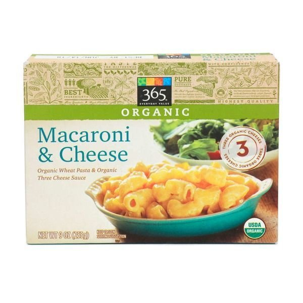 Frozen Mac N Cheese Dinner, 365® Organic Macaroni & Cheese (9 oz Box)