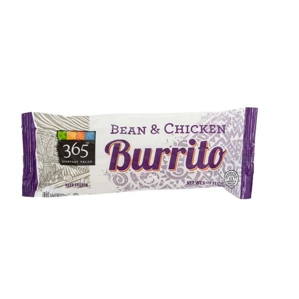 Burrito, 365® Bean & Chicken Burrito (6 oz Box)