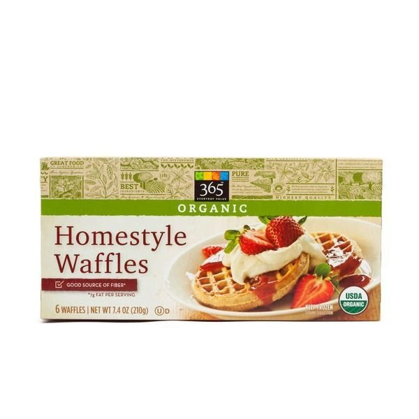 Frozen Waffles, 365® Organic Homestyle Waffles (6 Count 7.4 oz Box)