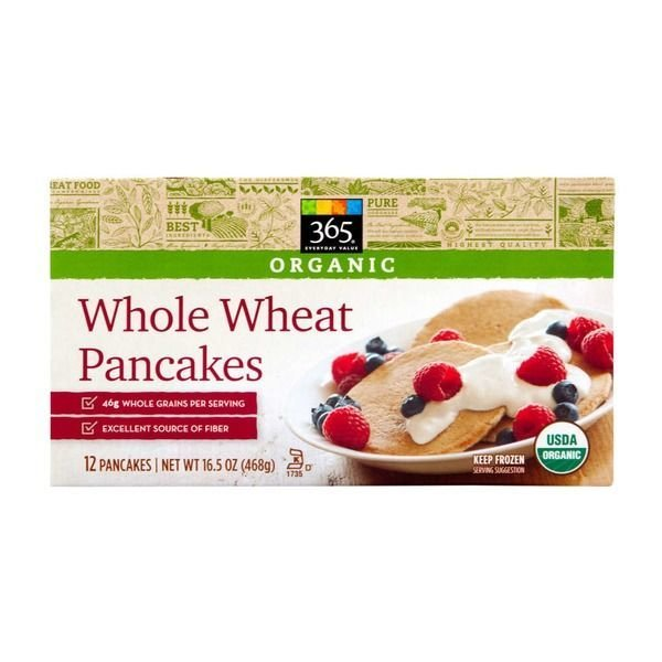 Frozen Waffles, 365® Organic Whole Wheat Pancakes (12 Count 16.5 oz Box)
