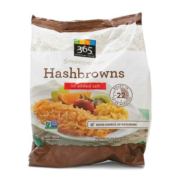 Frozen Potatoes, 365® Shredded Hash Browns (16 oz Bag)